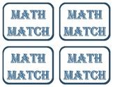 Math Match: Rules & Blank Cards