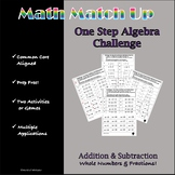 Math Match-Up:Addition and Subtraction One-Step with Whole