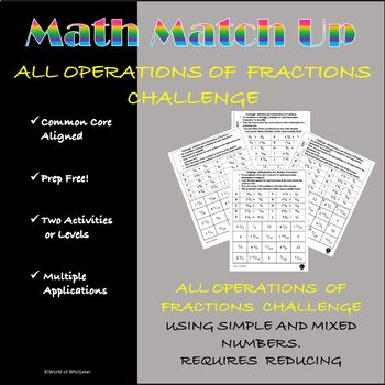 Math Match-Up:  All Operations Fractions