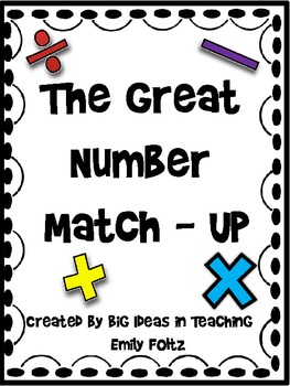 Math Match Up: Greater than, Less than, Equal to Math Problem Sorting Center
