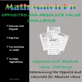 Math Match-Up:  Integer Opposites and Absolute Value