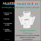 Math Match-Up:  Integer Scenarios