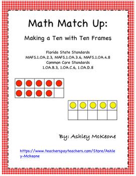 Math Match Up: Making a Ten with Ten Frames