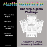 Math Match-Up:  Multiplication and Division One-Step with