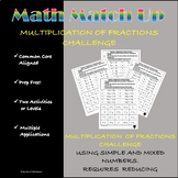 Math Match-Up:  Multiplication of Fractions