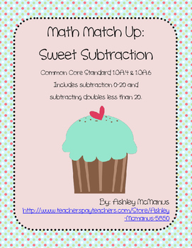Math Match Up: Sweet Subtraction