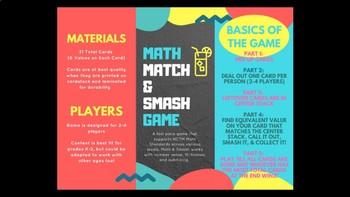Math - Match and Smash Subitizing Game
