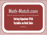 Math-Match.com- Solving Equations with Variables on Both S