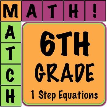 Math Matcher Puzzle - 1 Step Equations