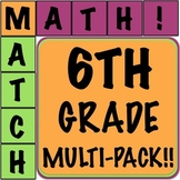 Math Matcher Puzzle - 6th Grade Multi-Pack