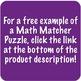 Math Matcher Puzzle - Decimal Operations