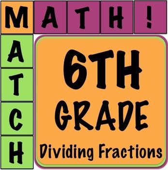 Math Matcher Puzzle - Dividing Fractions