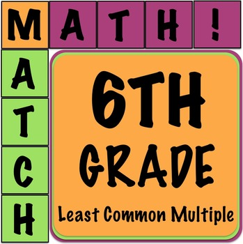 Math Matcher Puzzle - Least Common Multiple