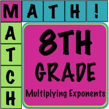 Math Matcher Puzzle - Multiplying Exponents