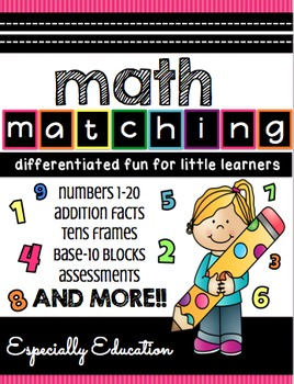 #especiallyeducation Math Matching 1-20 (Independent stations)