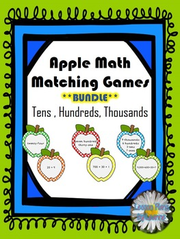 Standard to Expanded Form Matching Games - 10's, 100's, 1,000's **BUNDLE**