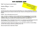 Math Matchup Card games - 4 games included.  Students learn through games!