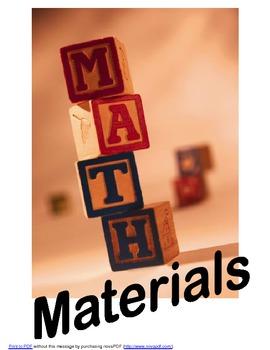 Math Materials Poster