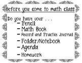 Math Materials Sign