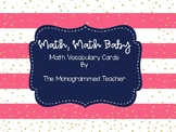 Math, Math Baby: Math Vocabulary Bulletin Board