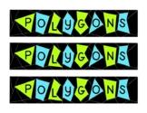 Math Mathematics Polygons Geometry Bulletin Board Border Printable PDF