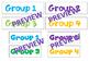 Math Maths Group Rotation Chart TIME