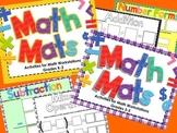 Math Mats Activities for Math Workstations/Centers for K-5 Bundle