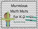 Math Mats Bundle K-2 (over 20 Math mats)
