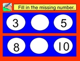 Math Mats-Fill in the Missing Number 1-10 and 11-20