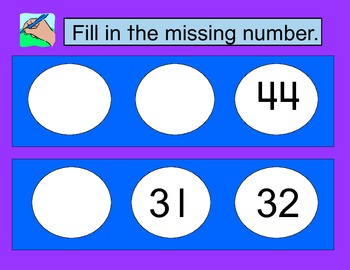 Math Mats- Fill in the Missing Number 21-100 and 100-200