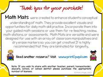 Math Mats: Shape Fractions