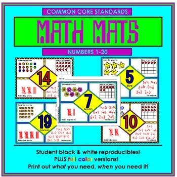 Math Mats (Frayer mats) Numbers 1-20 by Dwayne Kohn | TpT