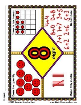 Math Mats (Frayer mats) Numbers 1-20