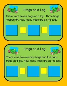 Math Mats: Frogs on A Log