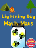 Math Mats:  Lightning Bugs   ***Preschool Math Activity****