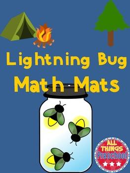 Math Mats:  Lightning Bugs   ***Preschool Math Activity****