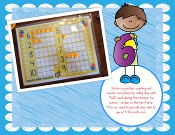 Math Mats Math Center! (9 Hands-On Number Sense Center Activites)