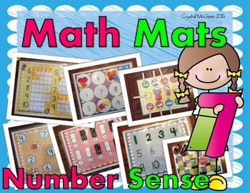 Math Mats Math Center! (9 Hands-On Number Sense Center Activites)