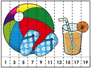 Math Counting Skip Counting Puzzles Kinder First Second Grade Activites
