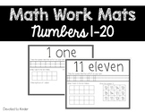 Math Mats Numbers 1-20