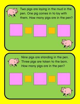 Math Mats: Pigs in A Pen