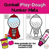 Math Mats, Play-doh Gum Ball number mats