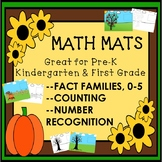Math Mats Pre K Kinder First Numbers Counting Fact Families Printables Activity