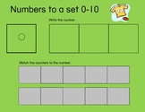 Math Mats- Recognizing Numbers to 20