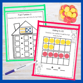 Math Mats Write and Wipe First Grade