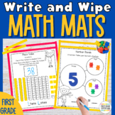Guided Math First Grade Write and Wipe Math Mats