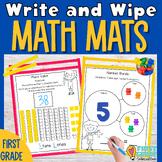Math Mats: Write and Wipe (First Grade)