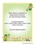 Math Mats for Addition and Subtraction Practice: St. Patri