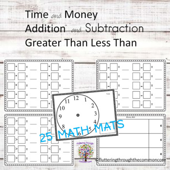 Math Journals Math Mats for Center Activities (25)  Common Core Math Strategies