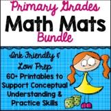 Math Mats for Guided Math in Kindergarten, First Grade, and Second Grade